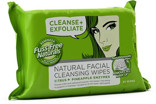 Fuss Free Face Wipes Cleanse & Exfoliate