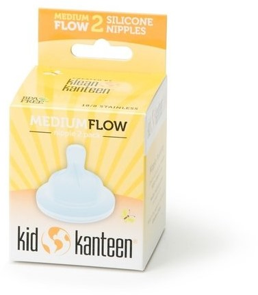 Kid Kanteen Spenen voor RVS Babyfles - Medium