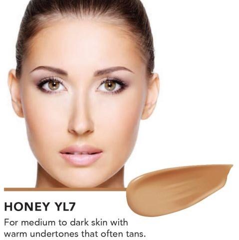 INIKA Biologische Liquid Foundation met Hyaluronic Acid - Honey