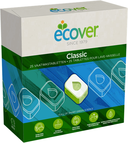 Ecover Vaatwas Machine 25 tabletten