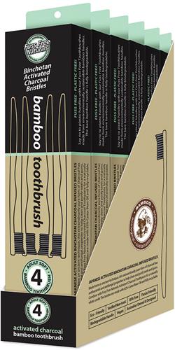 Fuss Free Bamboo Tandenborstel Soft 4 stuks