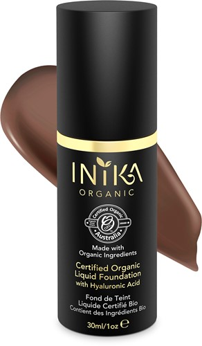 INIKA Biologische Liquid Foundation met Hyaluronic Acid - Cocoa