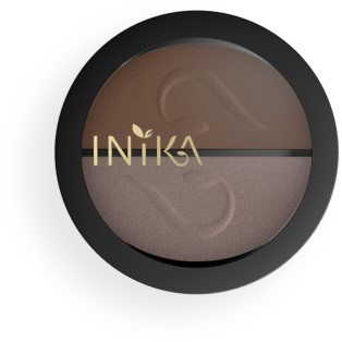 INIKA Pressed Mineral Eye Shadow Duos - Choc Coffee