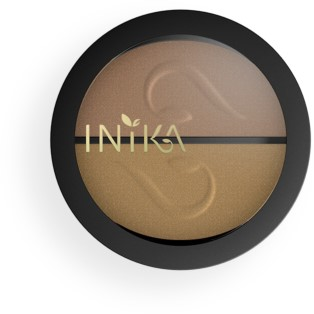 INIKA Pressed Mineral Eye Shadow Duos - Gold Oyster