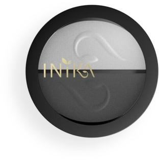 INIKA Pressed Mineral Eye Shadow Duos - Platinum Steel