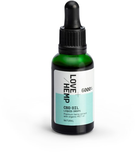 Love Hemp 6000mg 20% CBD Oil – 30ml Natural