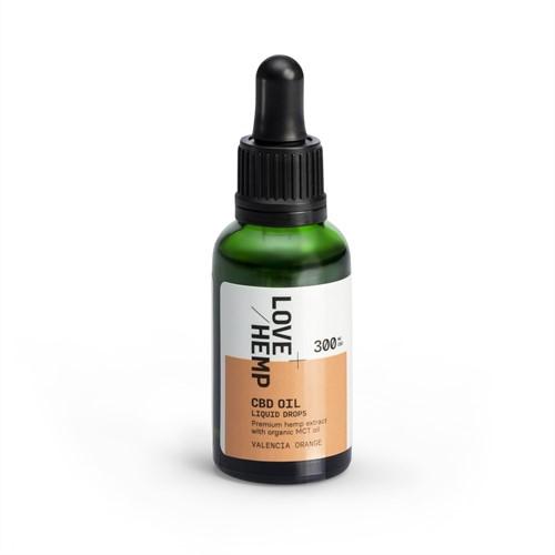 Love Hemp 300mg 1% CBD Oil – 30ml Orange