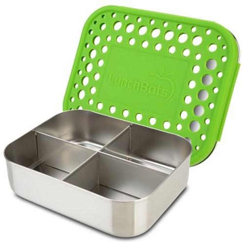 Lunchbots Broodtrommel QUAD  - Groen