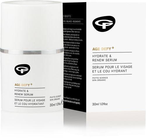 Green People Age Defy+  Hydrating Renew Face & Neck Serum